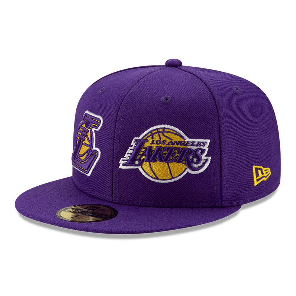 Gorra Los Angeles Lakers 100 años 59FIFTY, morado