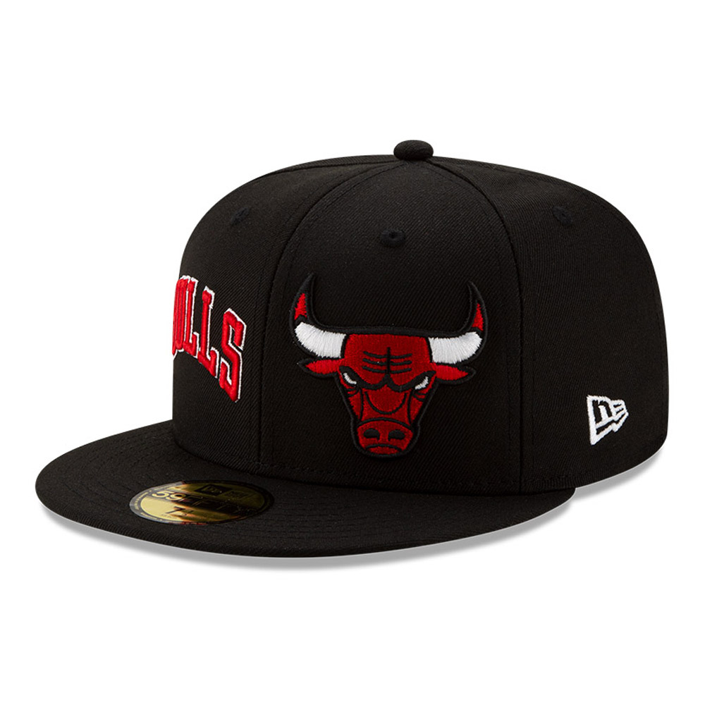 Gorra Chicago Bulls 100 años 59FIFTY, negro