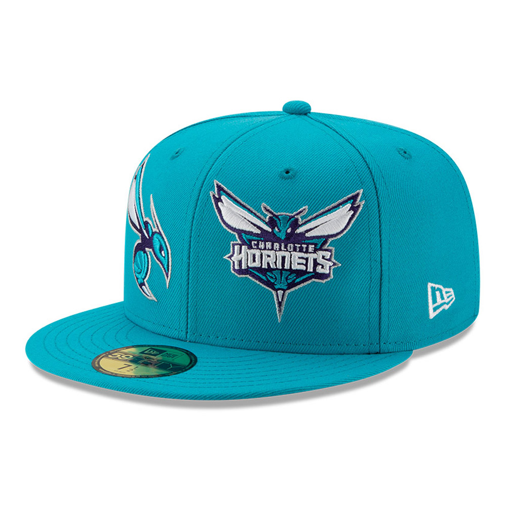 Gorra Charlotte Hornets 100 años 59FIFTY, azul