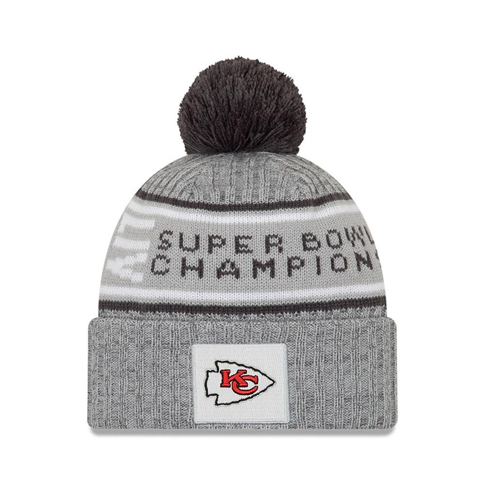 Berretto di maglia Super Bowl Parade 2020 dei Kansas City Chiefs grigio