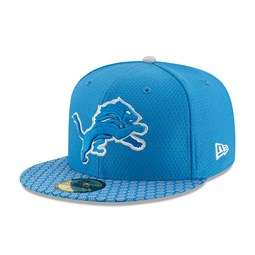 Detroit Lions 2017 Sideline Blue 59FIFTY