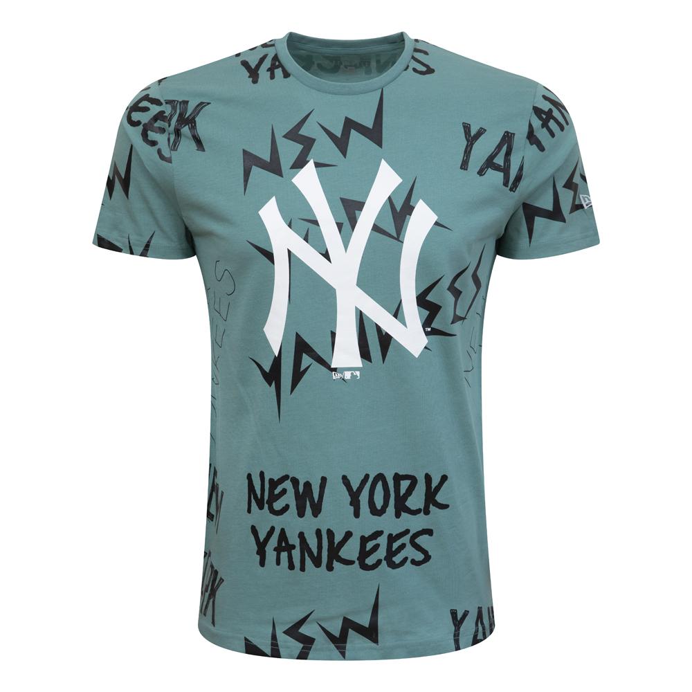 New York Yankees – Repeat Wordmark – T-Shirt – Braun
