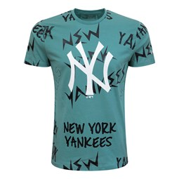 New York Yankees – Repeat Wordmark – T-Shirt – Braun