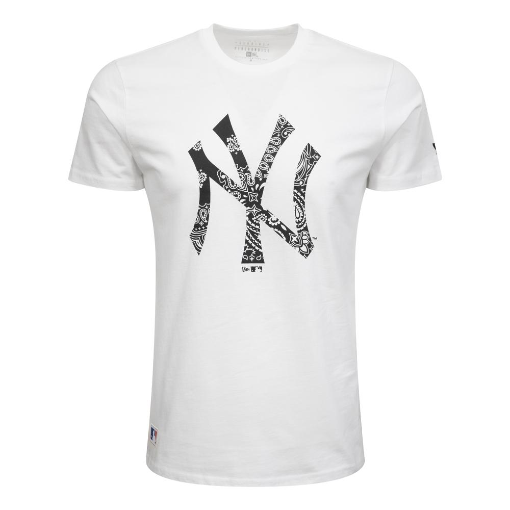 T-shirt New York Yankees Paisley Print bianca