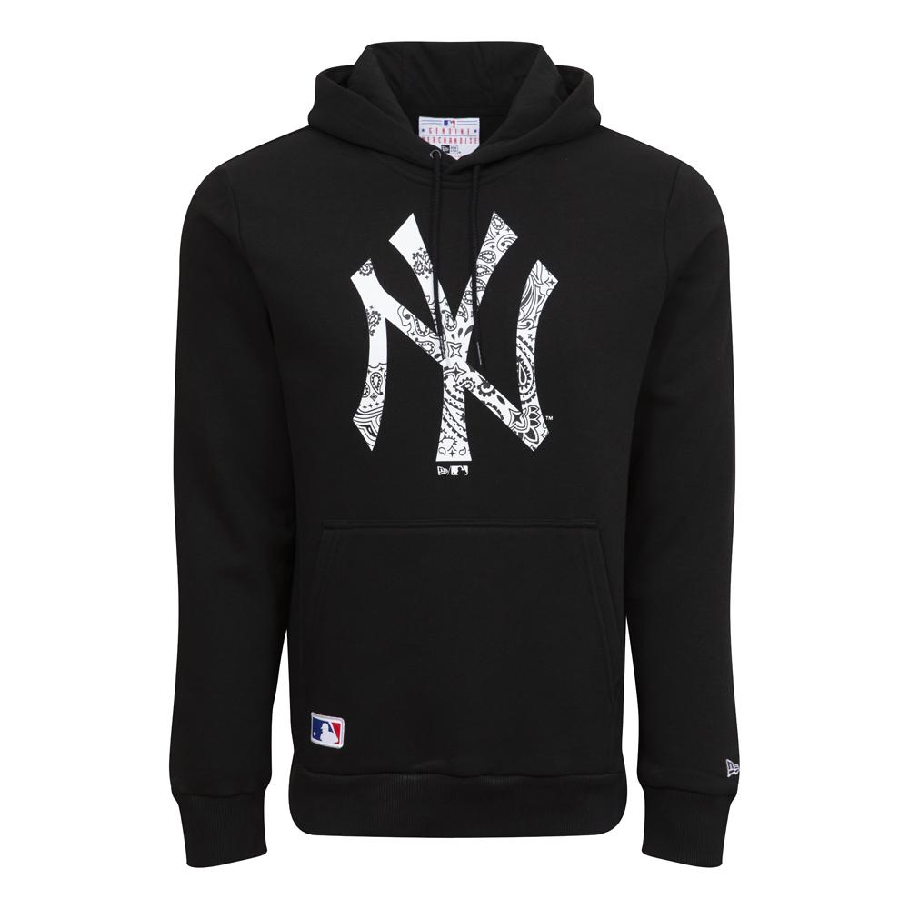 Sweatà capuche New York Yankees Paisley Print, noir