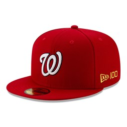 59FIFTY – Washington Nationals – MLB 100 – Kappe in Rot