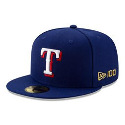 Texas Rangers MLB 100 Blue 59FIFTY Cap