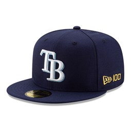 Tampa Bay Rays MLB 100 Navy 59FIFTY Cap