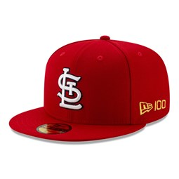 59FIFTY – St. Louis Cardinals – MLB 100 – Kappe in Rot