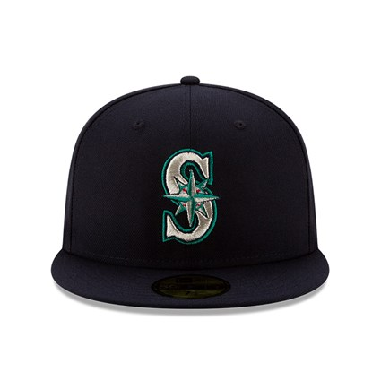 Seattle Mariners MLB 100 Navy 59FIFTY Cap