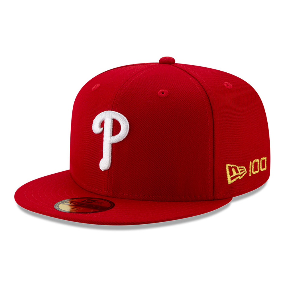 59FIFTY – Philadelphia Phillies – MLB 100 – Kappe in Rot
