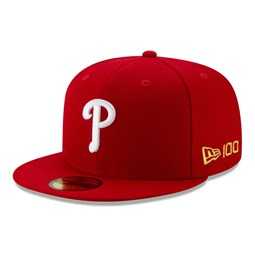 59FIFTY – Philadelphia Phillies – MLB 100 – Kappe in Rot