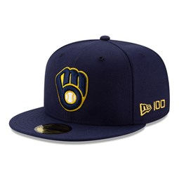 Milwaukee Brewers MLB 100 Blue 59FIFTY Cap