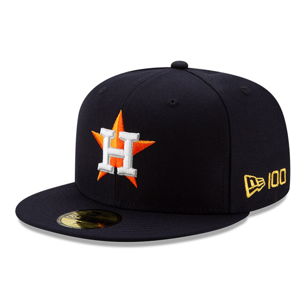 Gorra Houston Astros MLB 100 59FIFTY, azul marino