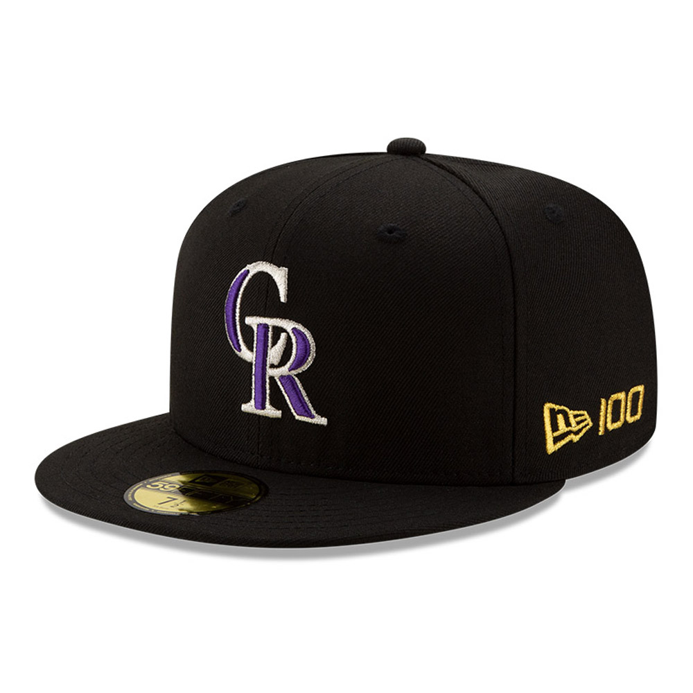 59FIFTY – MLB 100 – Colorado Rockies – Kappe in Schwarz