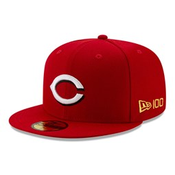 59FIFTY – Cincinnati Reds – MLB 100 – Kappe in Rot