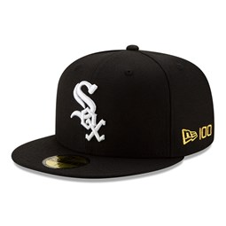 59FIFTY – MLB 100 – Chicago White Sox – Kappe in Schwarz
