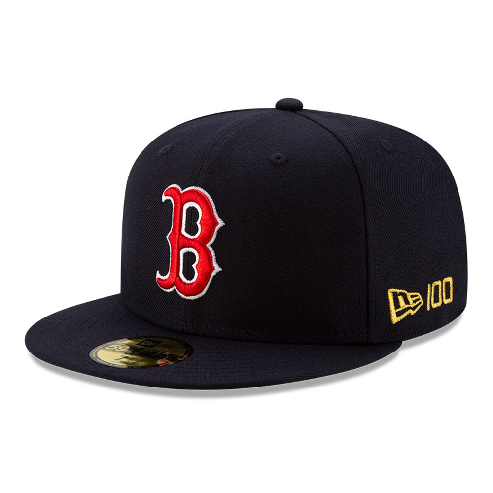 59FIFTY – Boston Red Sox – MLB 100 – Kappe in Marineblau