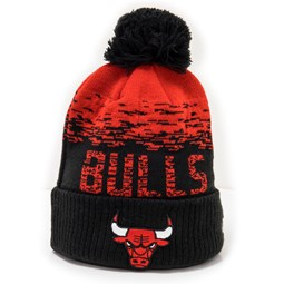 Chicago Bulls Black Ombre Bobble Knit