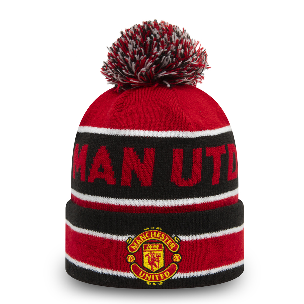 Manchester United Red Striped Multi Bobble Knit