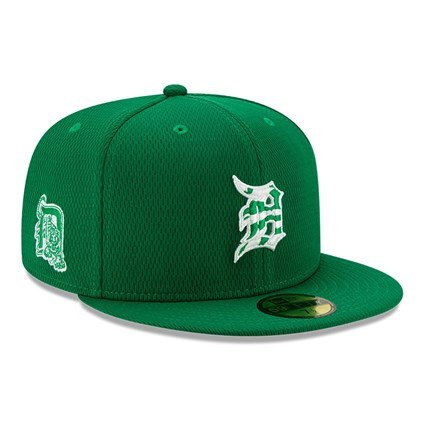 Detroit Tigers Green Batting Practice St Patricks 59FIFTY Cap