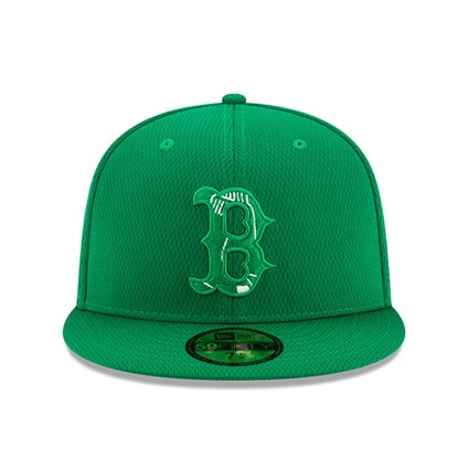 Boston Red Sox Green Batting Practice St Patricks 59FIFTY Cap