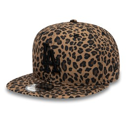 Los Angeles Dodgers Leopard Print Brown 9FIFTY Cap