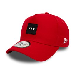 New Era NYC Rubber Patch Red A Frame Trucker