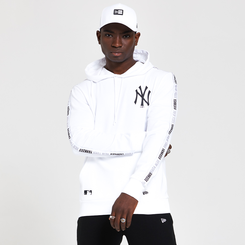Sudadera de los New York Yankees con cinta en la manga, blanco