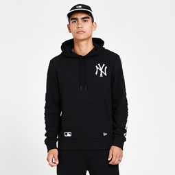 Sudadera New York Yankees Taped Sleeve, negro