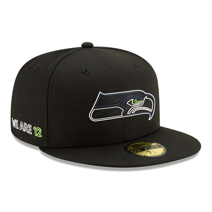 Seattle Seahawks NFL20 Draft Black 59FIFTY Cap