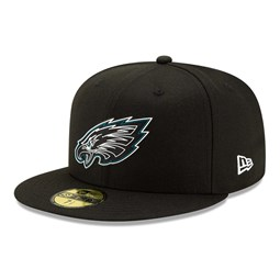 Philadelphia Eagles NFL20 Draft 59FIFTY-Kappe in Schwarz