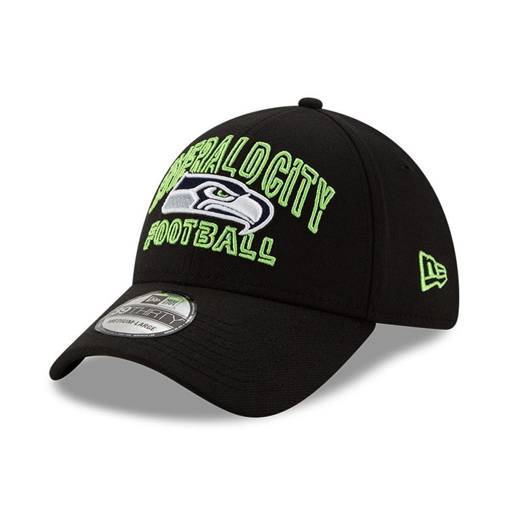 Casquette NFL20 Draft Black 39THIRTY des Seahawks de Seattle