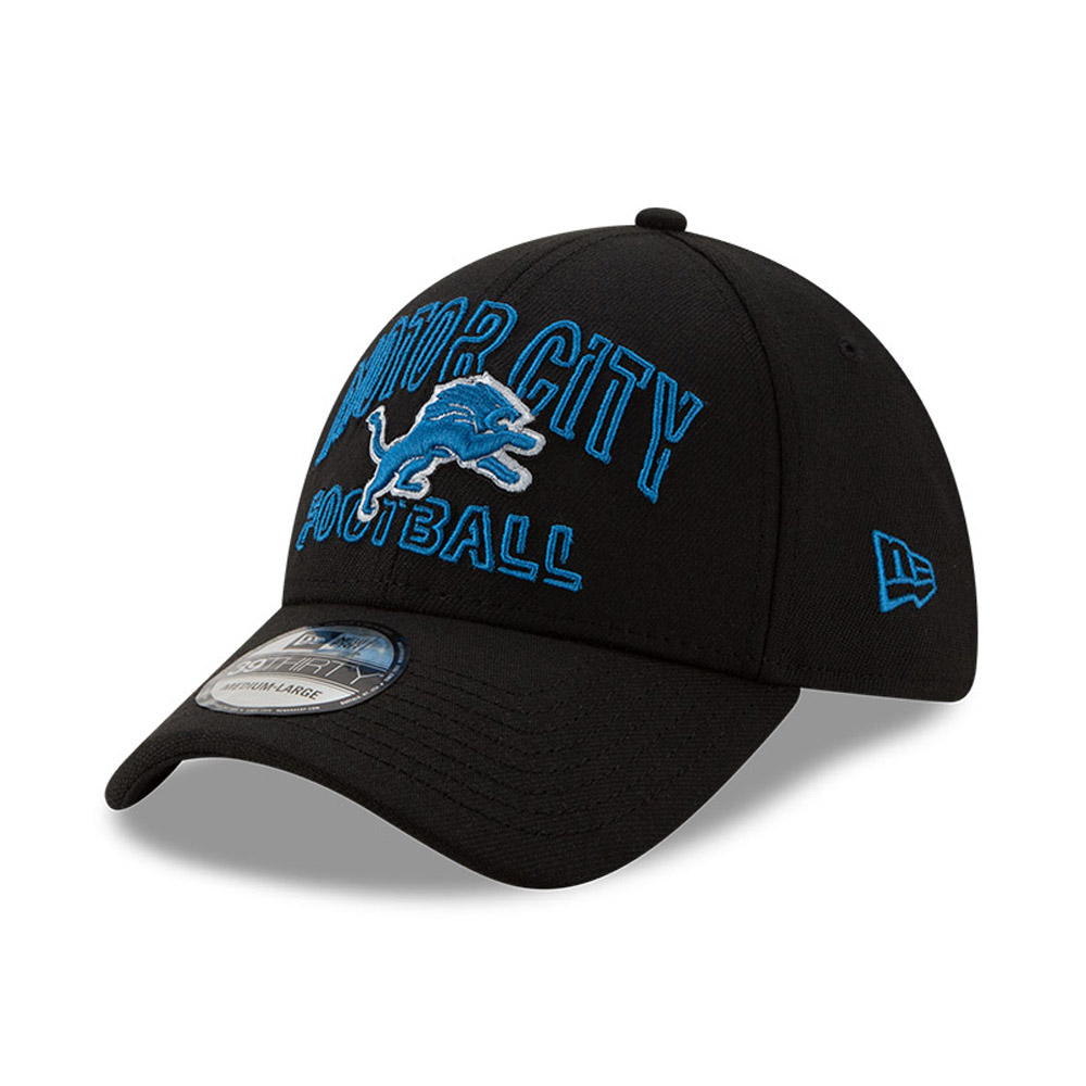 Casquette NFL20 Draft Black 39THIRTY des Lions de Détroit