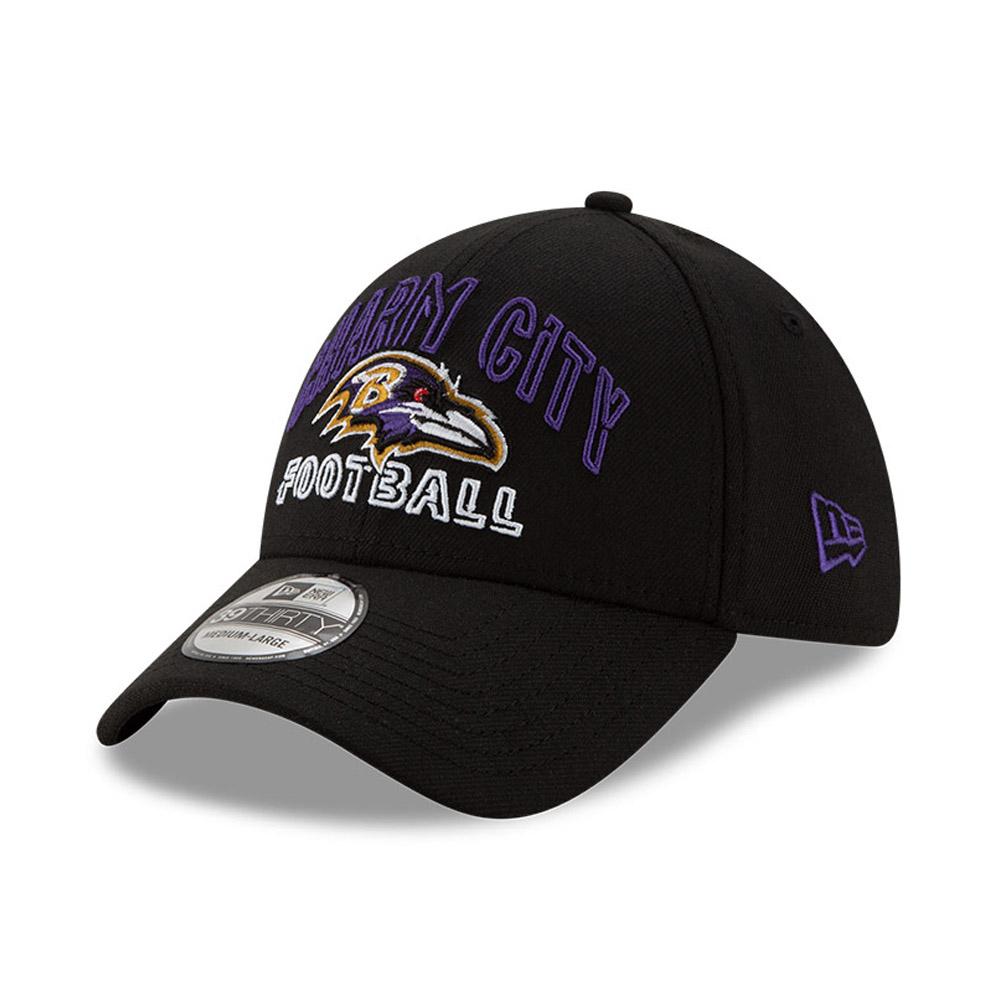 Gorra Baltimore Ravens NFL20 Draft 39THIRTY, negro
