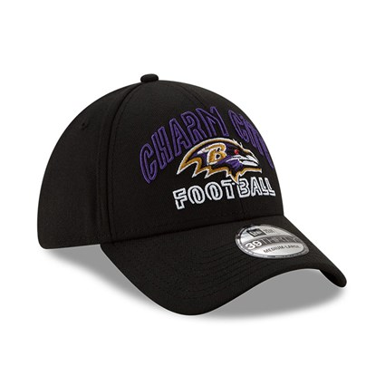 Baltimore Ravens NFL20 Draft Black 39THIRTY Cap