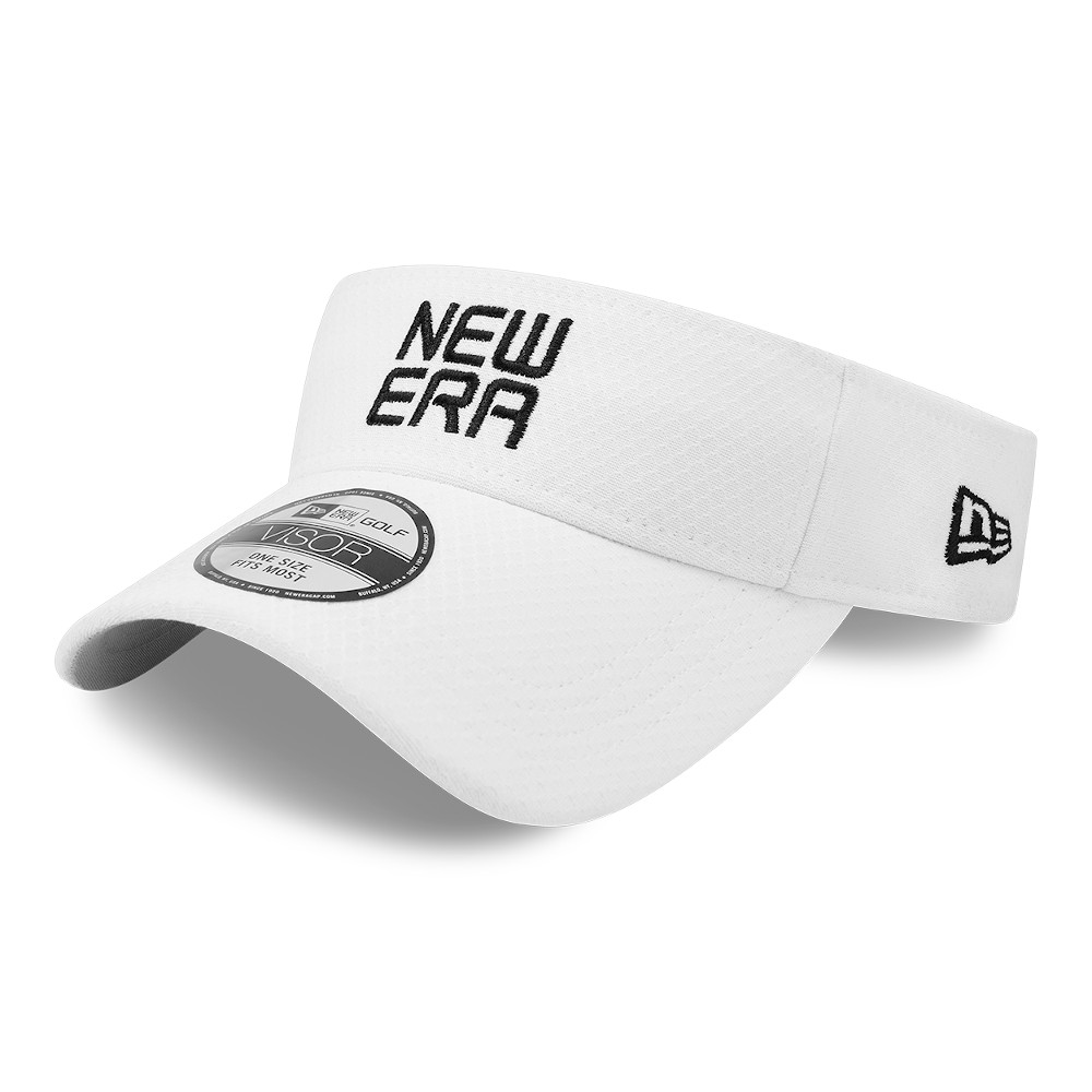 New Era Golf White Visor