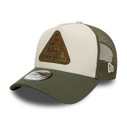 New Era Outdoors Contrast Visor Trucker kaki