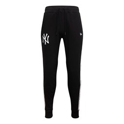 Pantalones de chándal New York Yankees Taped, negro