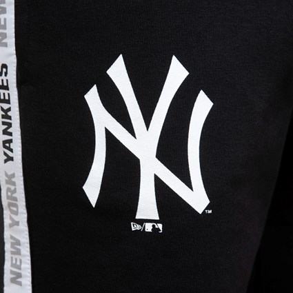 New York Yankees Taped Black Tracksuit Bottoms