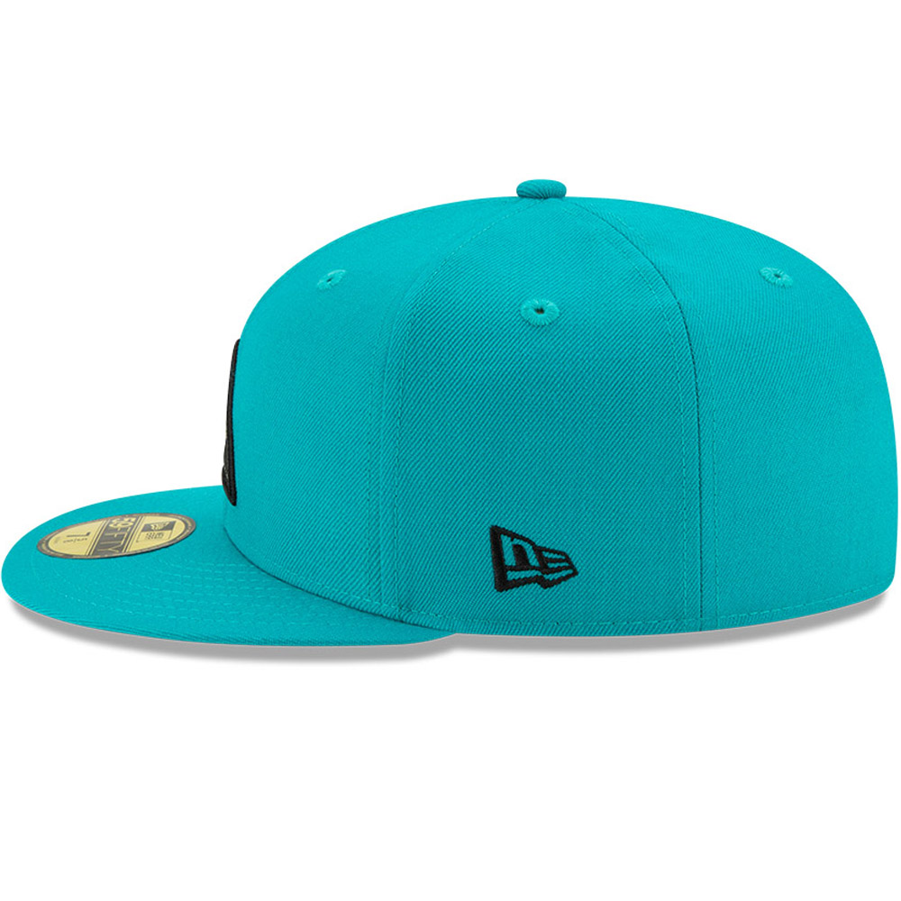 Casquette59FIFTY New EraX Dave East bleu turquoise