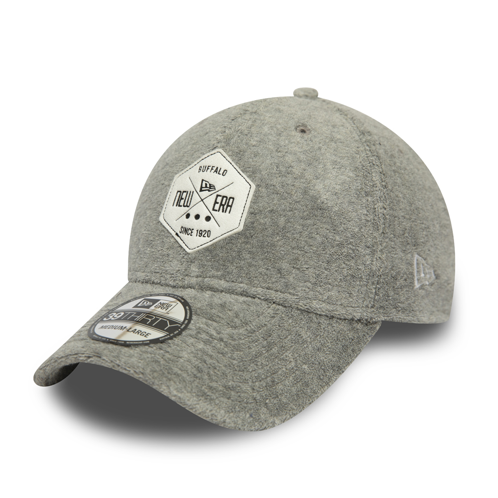 Casquette 39THIRTY Towelling Jersey de New Era, gris clair