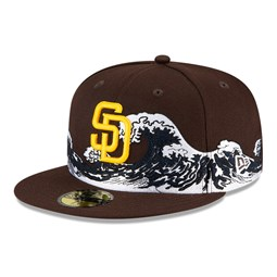 Casquette San Diego Padres 100 ans Wave 59FIFTY, bleu marine