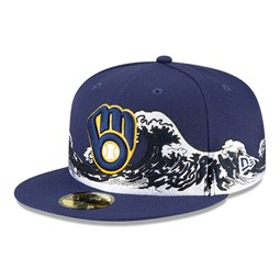 Milwaukee Brewers 100 Years Wave Navy 59FIFTY Cap