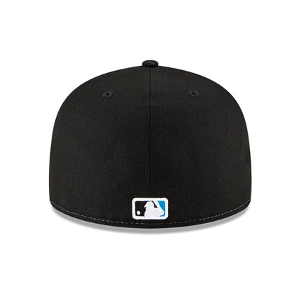 Miami Marlins 100 Years Wave Black 59FIFTY Cap