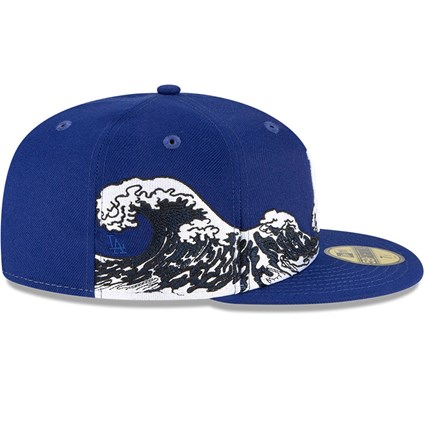 Los Angeles Dodgers 100 Years Wave Blue 59FIFTY Cap