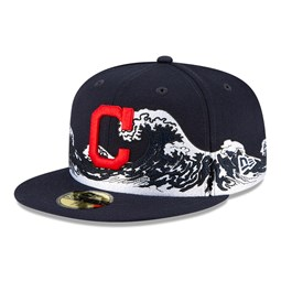 Cleveland Indians 100 Years Wave Blue 59FIFTY Cap