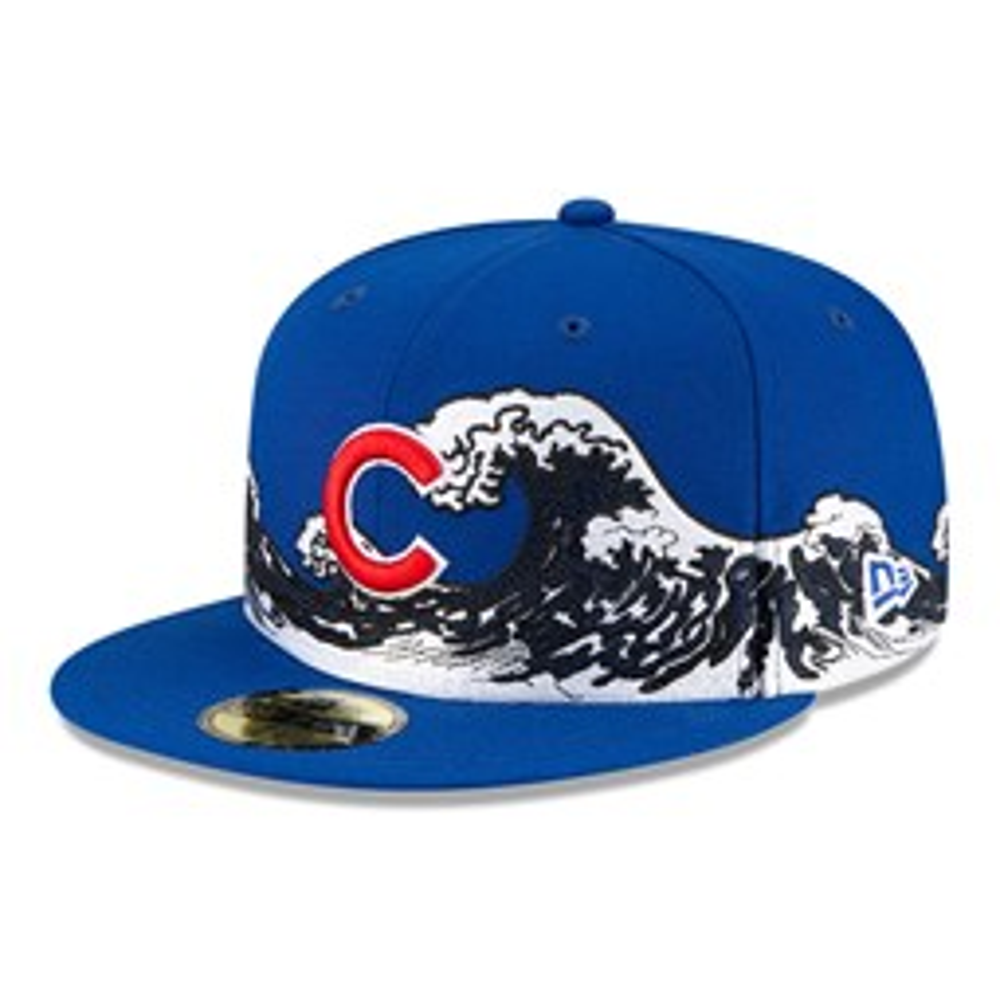 Casquette Chicago Cubs 100 ans Wave 59FIFTY, bleu