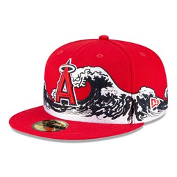 Casquette Anaheim Angels 100 ans Wave 59FIFTY, rouge