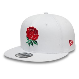 Gorra England Rugby Union Rose 9FIFTY, blanco